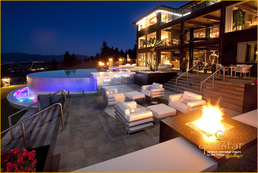 Gallery 3 of work by international pool designer skip for Pool design kelowna