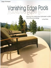 Pools, Spas And Patios Vanishing Edge Pools