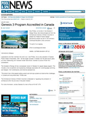 Pool and Spa News Genesis 3 Accredited In Canada March 2011 (Ext. Link)