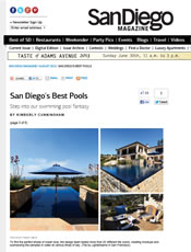 San Diego Magazine Aug 2012 - San Diego's Best Pools