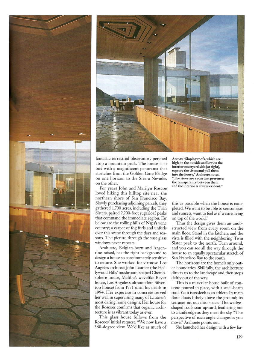 Architectural Digest - Meeting The Horizon In California