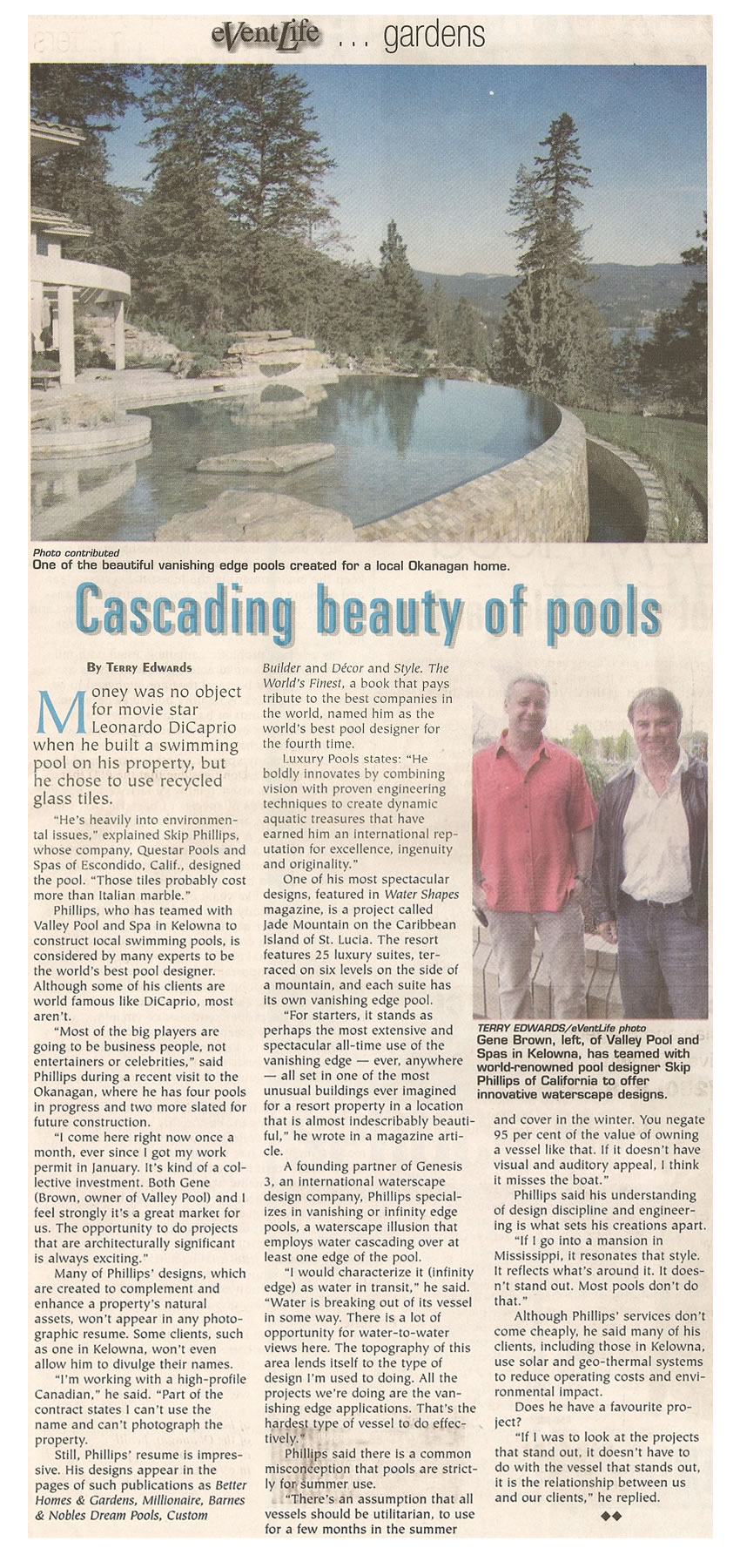 Event Life - Cascading Beauty Of Pools By Terry Edwards