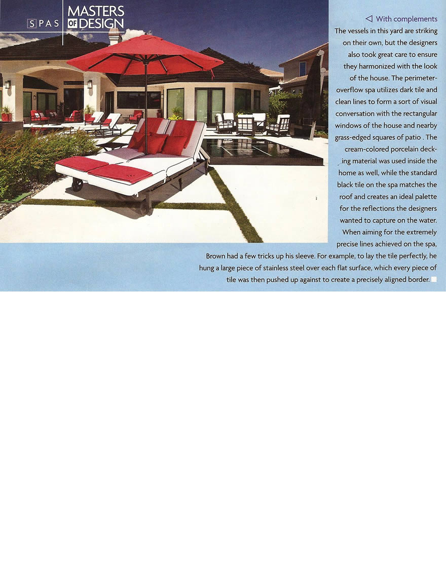 Pool and Spa News Award Article - Masters Of Design July 2011