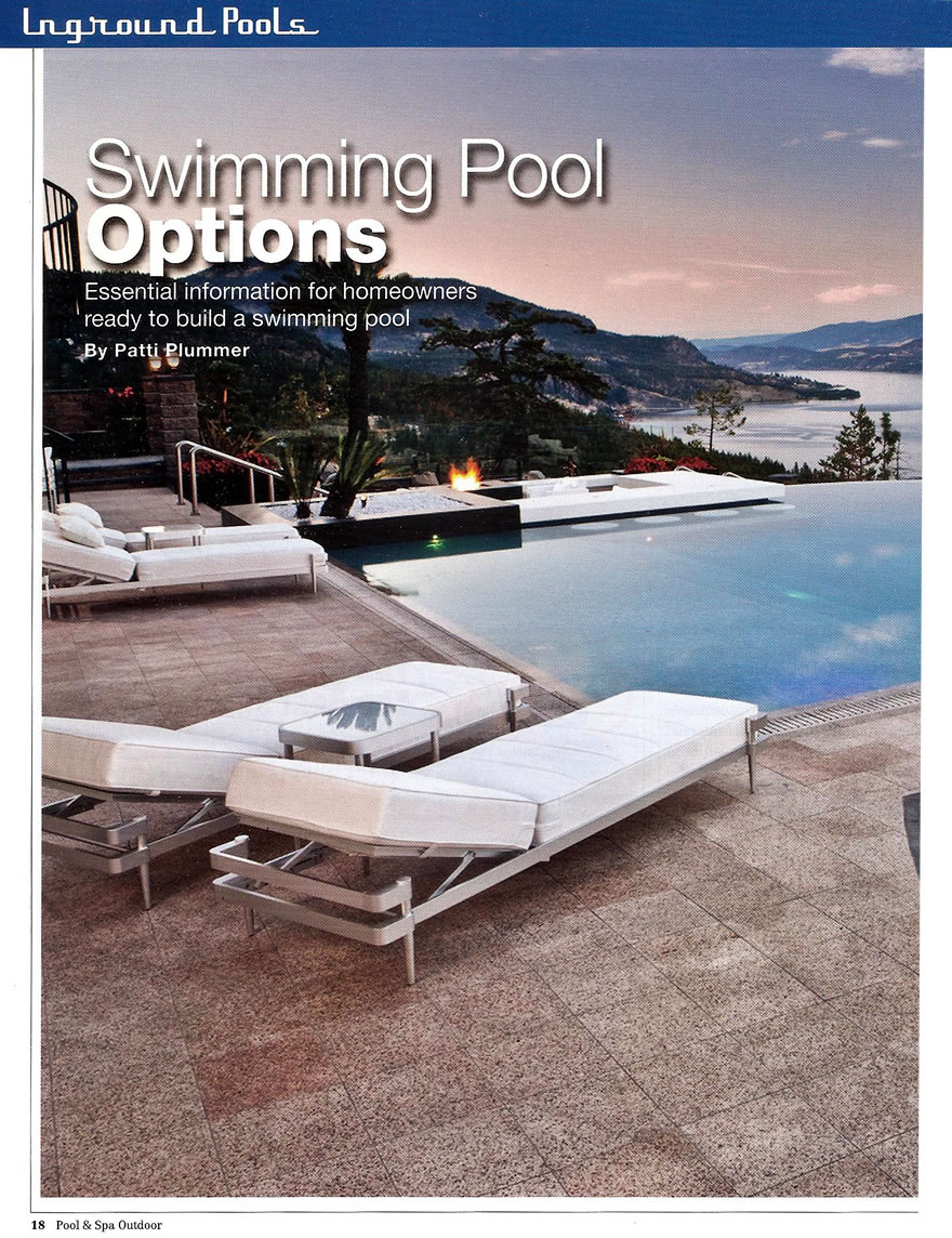 Pool And Spa Outdoor - Swimming Pool Options April 2012