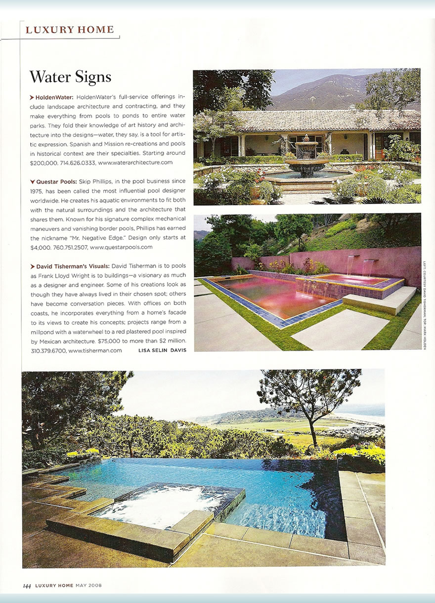 Robb Report - Luxury Homes Water Signs May 2008 Articles Pool ...