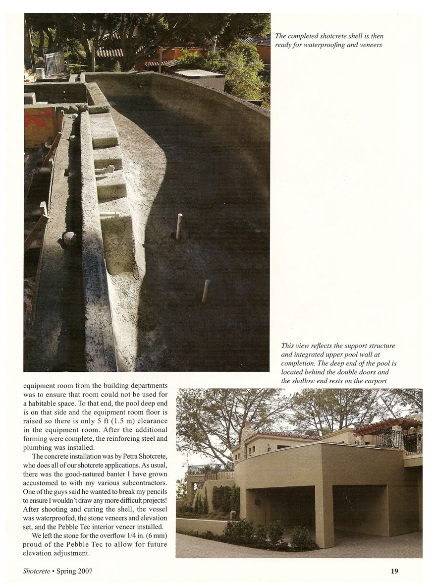 Shotcrete Magazine - Complex Pools, My Perspective Spring 2007
