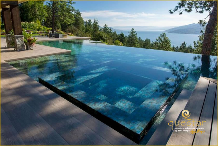 Gallery of vanishing edge design infinity edge design for Pool design kelowna